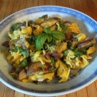 Eggs with Eggplant and Basil