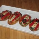 Basil Pimento Crostini Appetizer