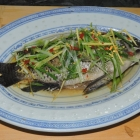 Steamed Whole Tilapia with Ginger and Scallion