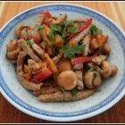 Veal with Sweet Peppers and Mushrooms