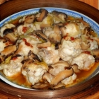 Steamed Chicken with Mushrooms