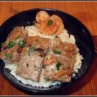 Steamed Pork with Dried Squid  鱿鱼蒸肉餅