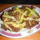 Beef Stir-fried with Leek