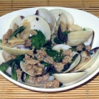 Clams and Pork with Basil