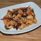 Chili Basil Squid Appetizer