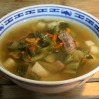 Beef Soup with Daikon and Mustard