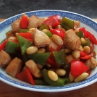 Chicken with Almonds and Peppers