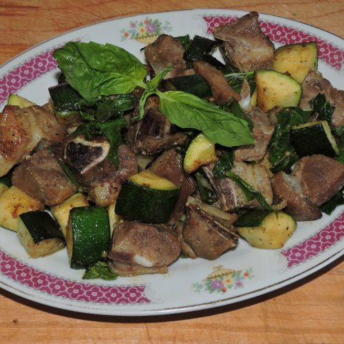 Lamb with Zucchini and Basil
