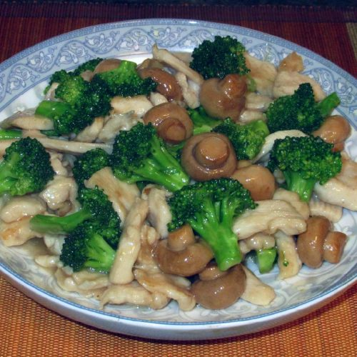 Chicken with Button Mushrooms