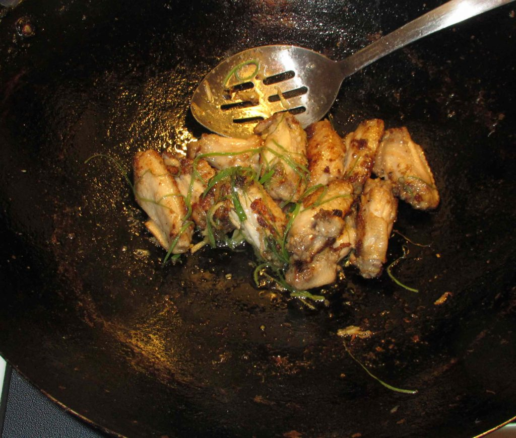 Finishing Lemongrass Chicken Wings