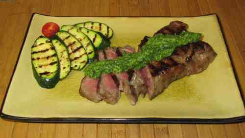 Steak with Lemon-Cumin Pesto